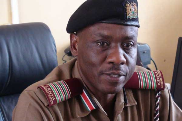 Mandera County Commissioner Fredrick Shisia who confirmed that one person was killed and another injured on June 6, 2017 after their vehicle was shot at in Mandera North Sub-County. FILE PHOTO | MANASE OTSIALO | NATION MEDIA GROUP